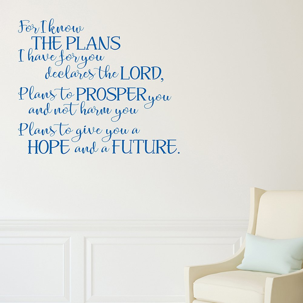 Blue Jeremiah 29:11 decal with the LORD