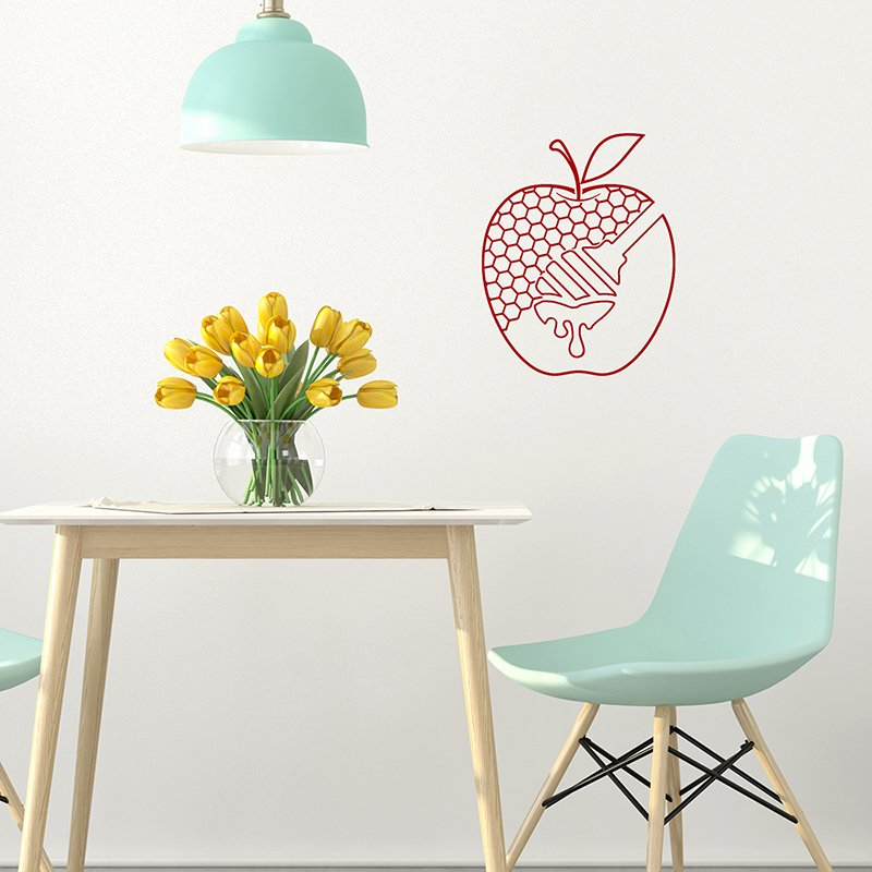Red Apples and Honey decal