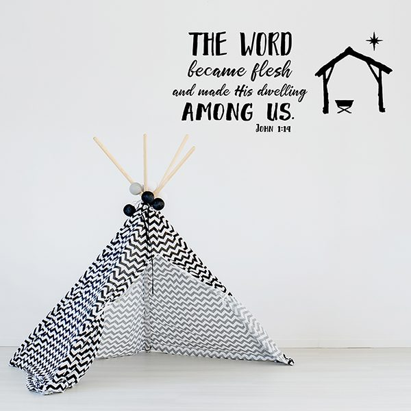 Child room with play tent and white cot