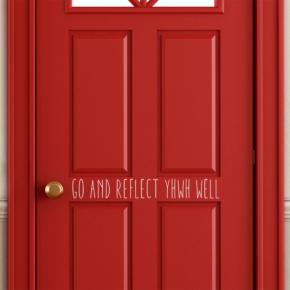 Empty home entrance with red classic door - rendering
